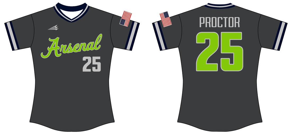 Arsenal Softball Custom Throwback Softball Jerseys